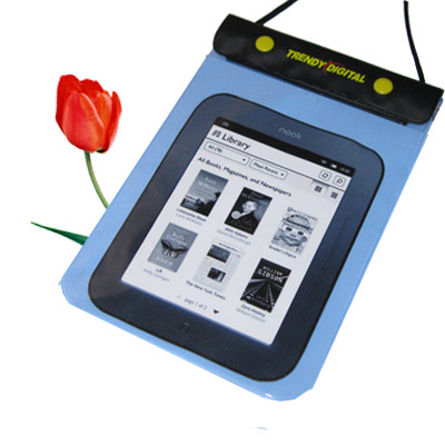 WaterGuard Waterproof Case for Nook 2, Blue Border