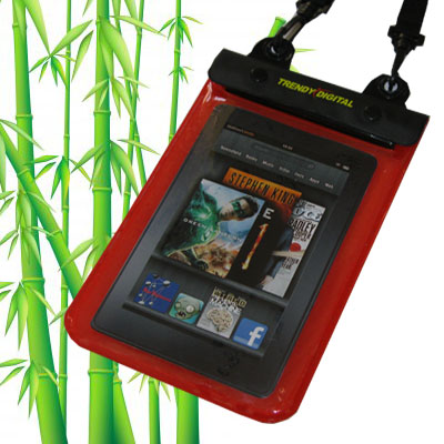 WaterGuard Plus Waterproof Case for Kindle Fire w/Padding, Red
