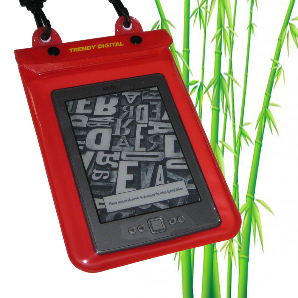WaterGuard Plus Waterproof Case for Kindle 4 w/Padding, Red