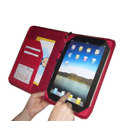 TrendyDigital PadGear Folio Cass for Apple iPad, Red