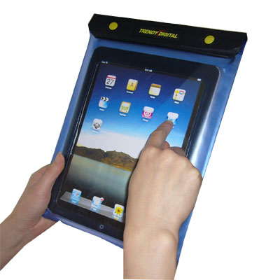 WaterGuard Plus Waterproof Case for iPad with Padding, Blue