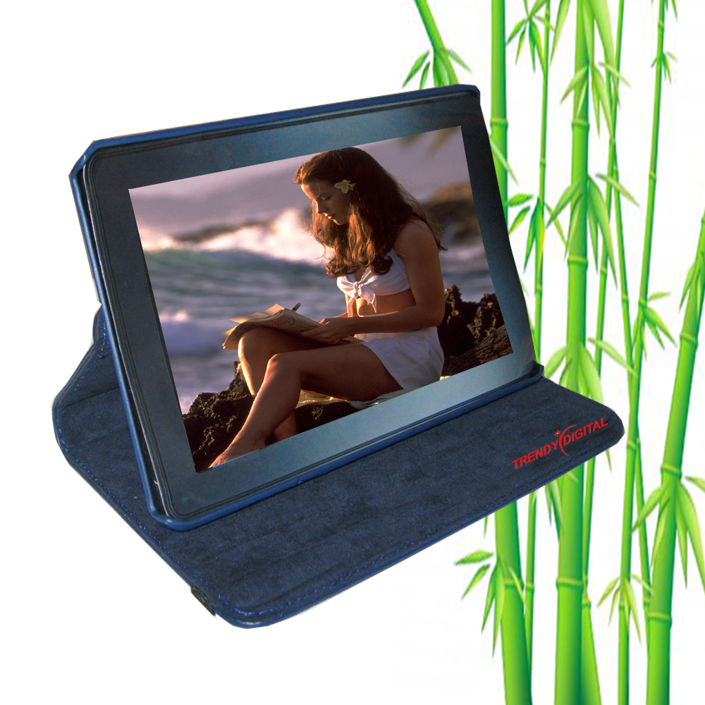 TrendyDigital 360 Rotating Case for Kindle Fire, Blue